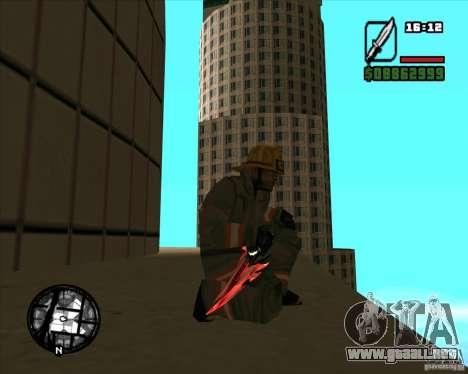 Chrome black red gun pack para GTA San Andreas quinta pantalla