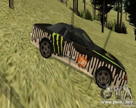 Monster Energy Vinyl para GTA San Andreas left