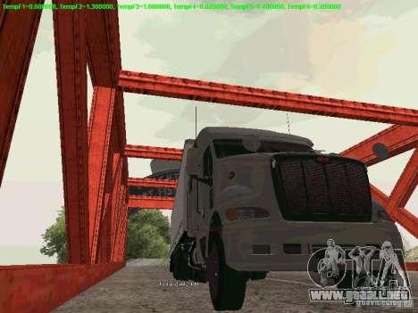 Peterbilt 387 para GTA San Andreas vista hacia atrás