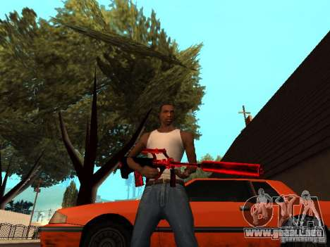 Red Chrome Weapon Pack para GTA San Andreas octavo de pantalla