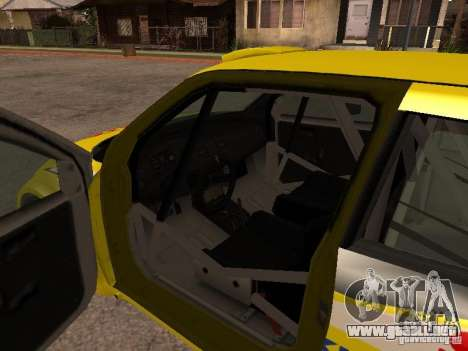 Suzuki Swift Rally para visión interna GTA San Andreas