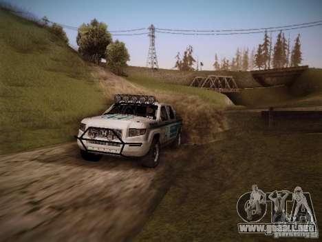 Honda Ridgeline Baja White para la visión correcta GTA San Andreas