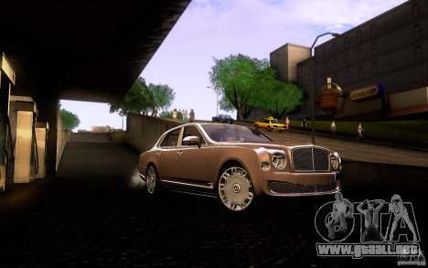 Bentley Mulsanne 2010 v1.0 para vista lateral GTA San Andreas