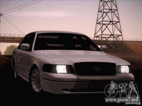 Ford Crown Victoria Interceptor para la vista superior GTA San Andreas