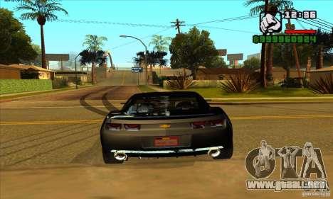 Chevrolet Camaro Concept Z06 2007 para GTA San Andreas vista hacia atrás