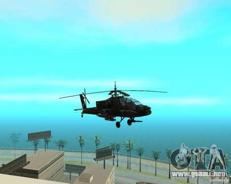 Ka-50 Black Shark para GTA San Andreas vista hacia atrás