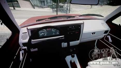 Volkswagen Rabbit 1986 para GTA 4 vista hacia atrás
