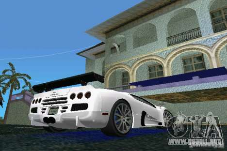 SSC Altimate Aero para GTA Vice City vista lateral izquierdo