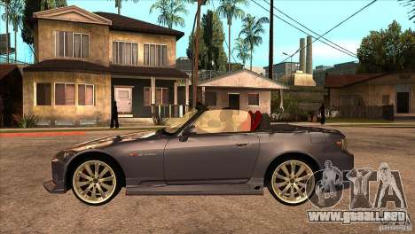 Honda S2000 Tuned v1 para GTA San Andreas left