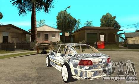 Cromado de Volkswagen Phaeton para GTA San Andreas vista posterior izquierda