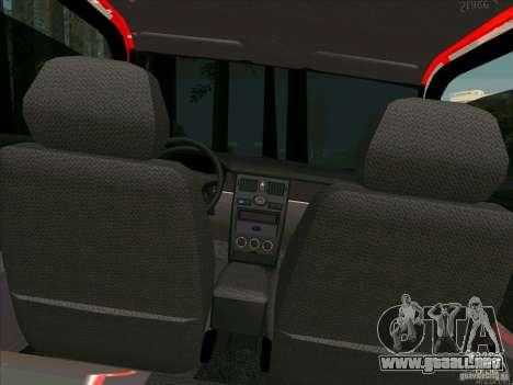 Lada Priora Coupe para la vista superior GTA San Andreas
