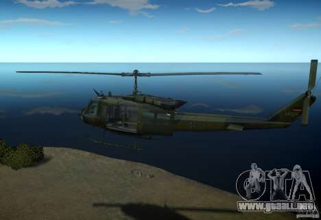 Bell UH-1D German Bundeswehr para GTA 4 left