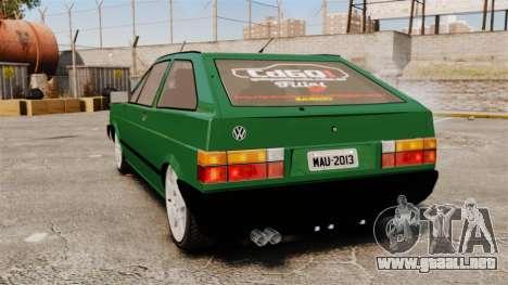 Volkswagen Gol GL 1992 Edit para GTA 4 Vista posterior izquierda