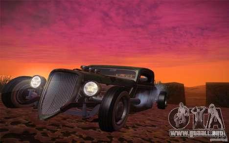 Ford Ratrod 1934 para GTA San Andreas vista hacia atrás