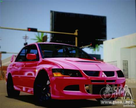 Mitsubishi Lancer EVO VIII MR 2004 para vista lateral GTA San Andreas