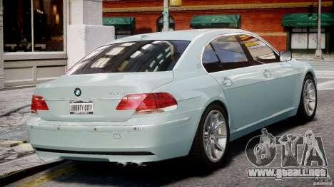 BMW 7 Series E66 para GTA 4 visión correcta