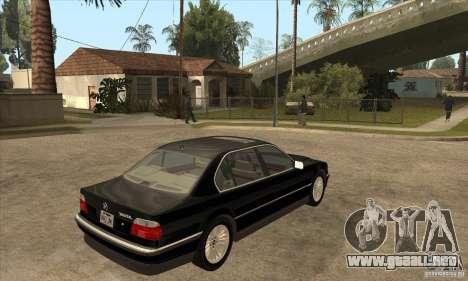 BMW E38 750IL para la visión correcta GTA San Andreas