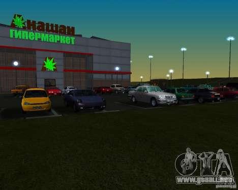 Autos en el estacionamiento del Anašana para GTA San Andreas