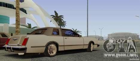 Virgo Continental para GTA San Andreas vista hacia atrás