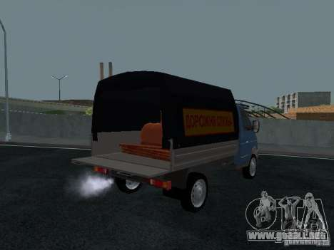 A bordo del GAS Sable 2310 para GTA San Andreas vista hacia atrás
