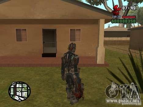 El traje de los juegos de Dead Space 2 para GTA San Andreas sucesivamente de pantalla