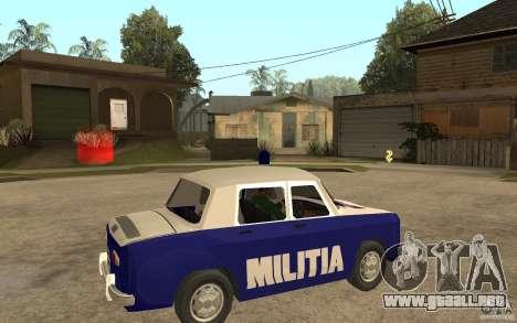Dacia 1100 Militie para la visión correcta GTA San Andreas