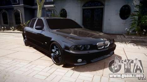 BMW M5 E39 Stock 2003 v3.0 para GTA 4 vista hacia atrás