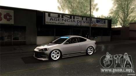Acura RSX Spoon Sports para vista lateral GTA San Andreas