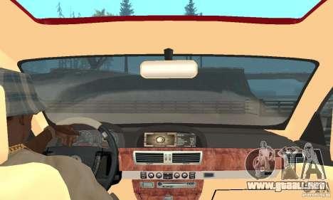 BMW 760Li E66 para GTA San Andreas vista hacia atrás