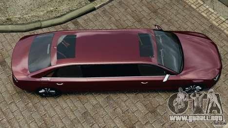 Audi A8 Limo v1.2 para GTA 4 visión correcta