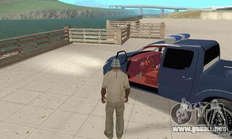 Toyota Hilux Somaliland Police para GTA San Andreas vista hacia atrás