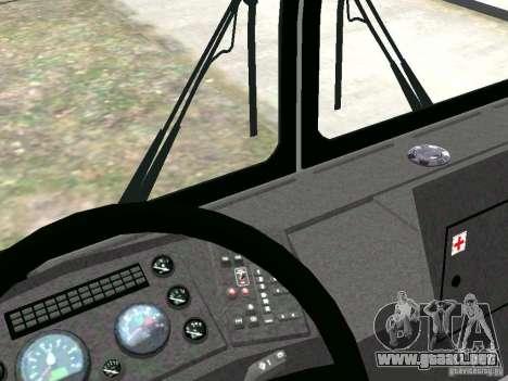MAZ 5295 v2.0 final para GTA 4 vista interior