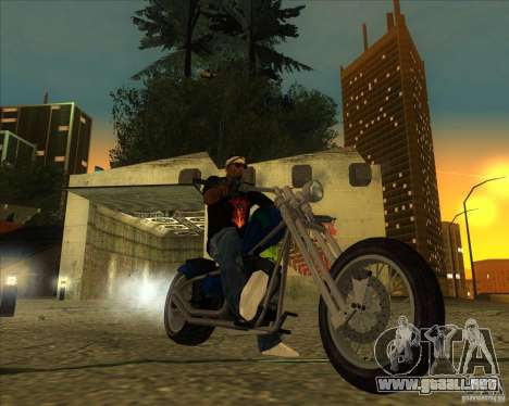 Hexer bike para GTA San Andreas vista posterior izquierda