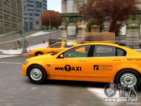 Holden NYC Taxi para GTA 4 left