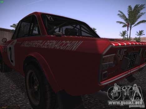 Lancia Fulvia Rally Marlboro para GTA San Andreas vista hacia atrás