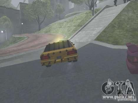 Zombie Taxi para GTA San Andreas vista hacia atrás