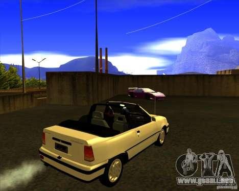 Chevrolet Kadett GSI 2.0 Conversivel (1991-1995) para GTA San Andreas vista posterior izquierda