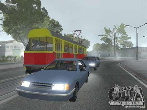 Tatra T3SU para vista lateral GTA San Andreas