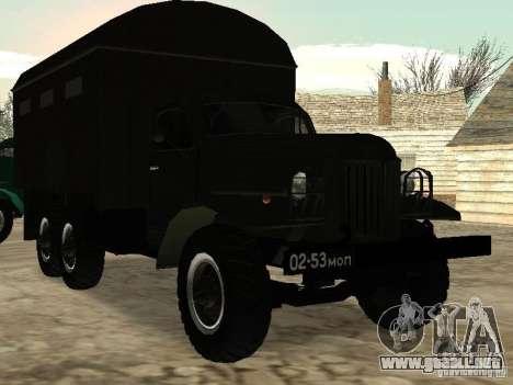 ZIL 157 para visión interna GTA San Andreas