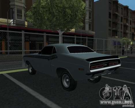 Dodge Chellenger V2.0 para GTA San Andreas vista posterior izquierda