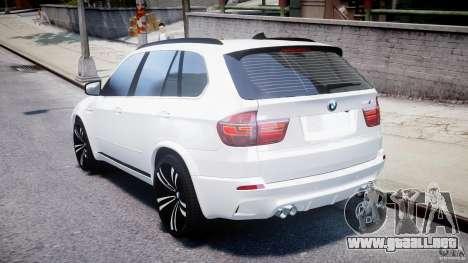 BMW X5M Chrome para GTA 4 Vista posterior izquierda