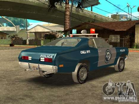 Plymout Duster 340 POLICE v2 para la visión correcta GTA San Andreas