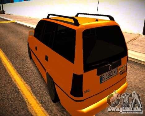 Opel Astra GSI Caravan para GTA San Andreas vista posterior izquierda