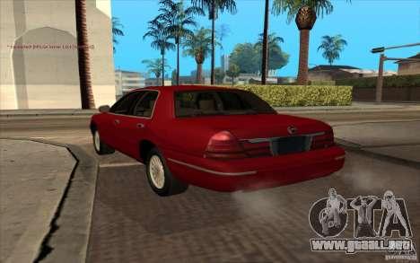 Mercury Grand Marquis 2006 para GTA San Andreas left