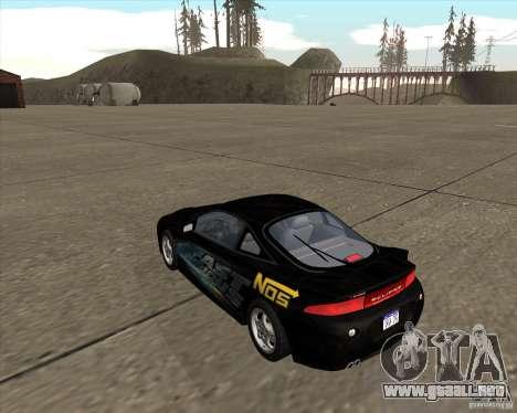 Mitsubishi Eclipse GST de NFS Carbon para GTA San Andreas left