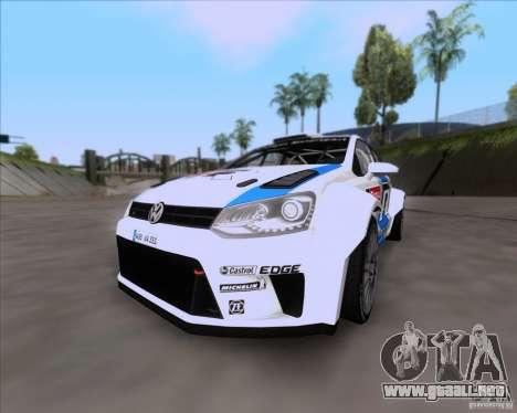 Volkswagen Polo WRC para vista lateral GTA San Andreas