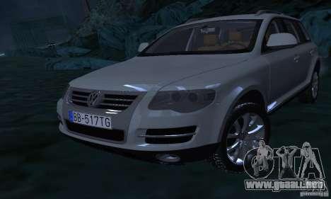 Volkswagen Touareg para la vista superior GTA San Andreas