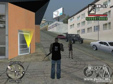 tapa del tanque de 50 cent para GTA San Andreas segunda pantalla