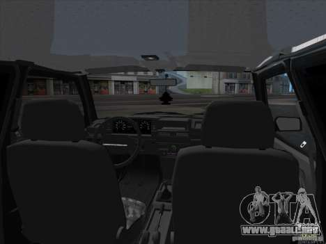 VAZ 2109 para la visión correcta GTA San Andreas