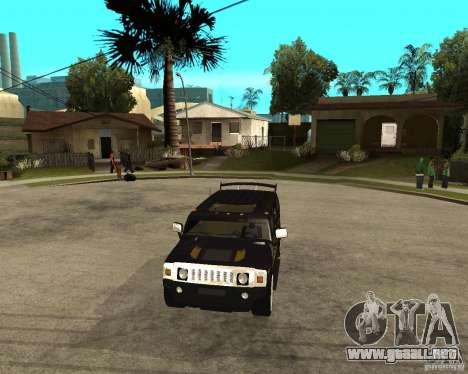 H2 HUMMER DUB LOWRIDE para GTA San Andreas vista hacia atrás